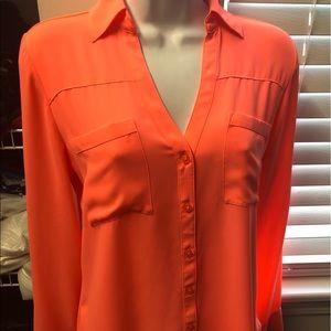 Neon orange express Portofino blouse